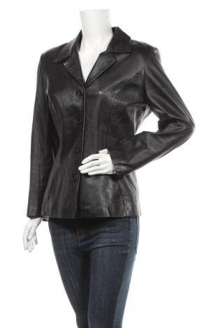 Γυναικείο δερμάτινο μπουφάν Apart, Μέγεθος M, Χρώμα Μαύρο, Γνήσιο δέρμα, Τιμή 30,69€