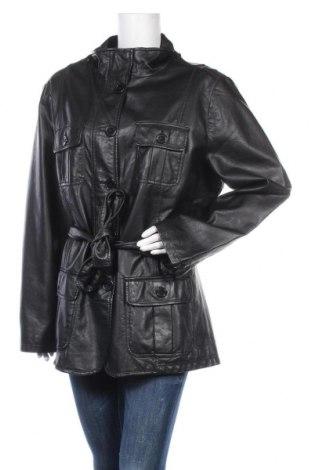 Дамско кожено яке Boyard, Размер XXL, Цвят Черен, Еко кожа, Цена 30,87лв.