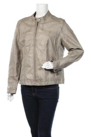 Дамско кожено яке Charles Vogele, Размер XL, Цвят Бежов, Еко кожа, Цена 22,05лв.