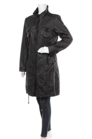 Дамско кожено яке East Village, Размер L, Цвят Черен, Естествена кожа, Цена 80,27лв.