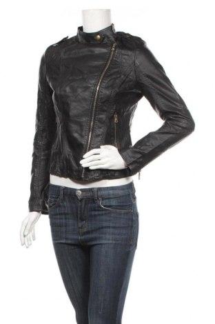 Дамско кожено яке Just One, Размер M, Цвят Черен, Еко кожа, Цена 36,23лв.