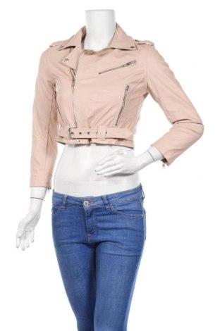 Дамско кожено яке Maxim, Размер S, Цвят Розов, Еко кожа, Цена 35,70лв.