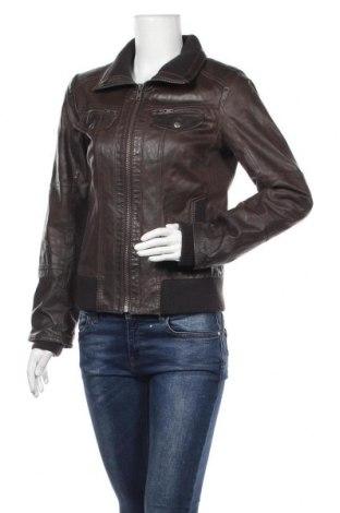 Дамско кожено яке ONLY, Размер M, Цвят Кафяв, Естествена кожа, Цена 39,27лв.