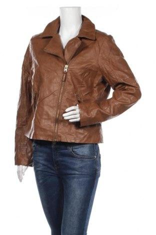 Γυναικείο δερμάτινο μπουφάν Supre, Μέγεθος XL, Χρώμα Καφέ, Δερματίνη, Τιμή 14,94€