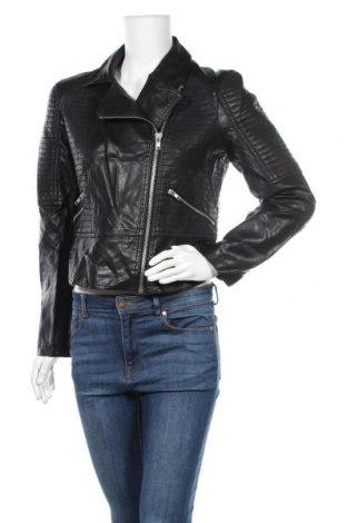 Γυναικείο δερμάτινο μπουφάν Target, Μέγεθος L, Χρώμα Μαύρο, Δερματίνη, Τιμή 28,39€