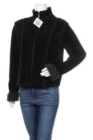 Дамско кожено яке Yessica, Размер M, Цвят Черен, Естествена кожа, Цена 23,36лв.
