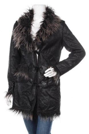 Дамско палто, Размер M, Цвят Черен, Полиестер, Цена 44,10лв.