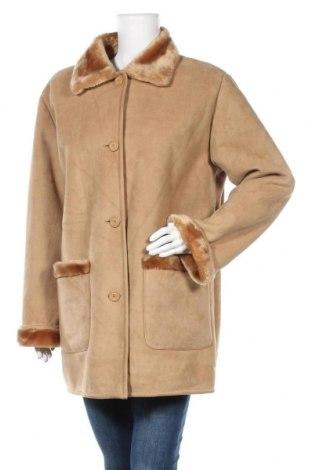 Дамско палто, Размер L, Цвят Бежов, 63% акрил, 37% полиестер, Цена 21,32лв.