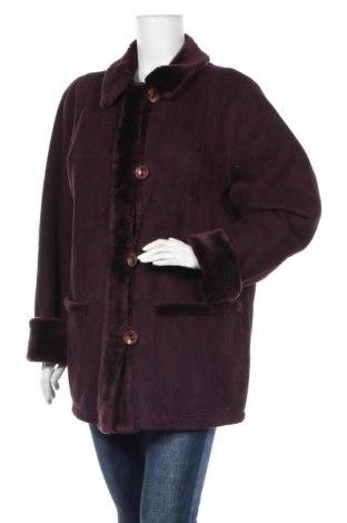 Дамско палто, Размер XXL, Цвят Червен, Полиестер, Цена 18,11лв.