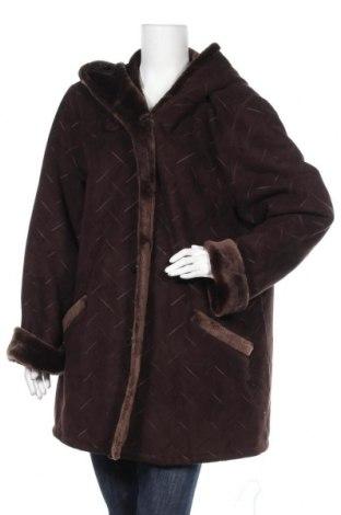 Дамско палто, Размер XL, Цвят Кафяв, Полиестер, Цена 38,22лв.