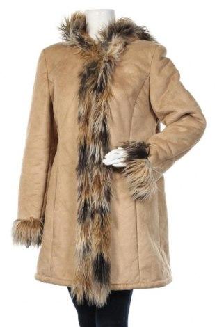 Дамско палто, Размер XL, Цвят Бежов, Цена 46,41лв.