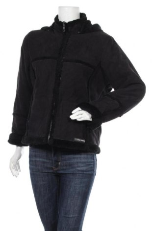 Дамско палто, Размер L, Цвят Черен, 70% акрил, 30% полиестер, Цена 29,45лв.