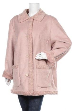 Дамско палто, Размер XXL, Цвят Розов, 56% полиакрил, 44% полиестер, Цена 32,13лв.