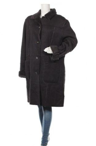 Дамско палто, Размер XL, Цвят Син, 50% вълна, 50% акрил, Цена 31,61лв.