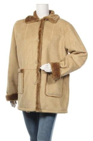 Дамско палто, Размер XL, Цвят Бежов, 80% акрил, 20% полиестер, Цена 13,39лв.