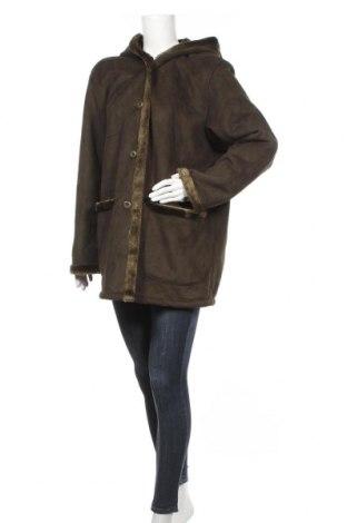 Дамско палто, Размер L, Цвят Зелен, Акрил, Цена 58,85лв.