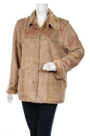 Дамско палто, Размер L, Цвят Бежов, Полиестер, Цена 17,64лв.