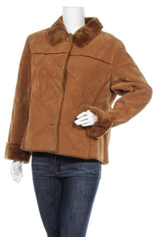 Дамско палто, Размер XL, Цвят Кафяв, 80% полиестер, 20% полиамид, Цена 27,88лв.