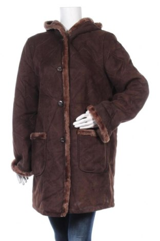 Дамско палто, Размер M, Цвят Кафяв, Полиестер, Цена 32,60лв.