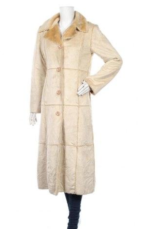 Дамско палто, Размер S, Цвят Бежов, Полиестер, Цена 32,34лв.
