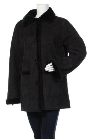 Дамско палто, Размер L, Цвят Черен, 63% полиакрил, 37% полиестер, Цена 24,99лв.