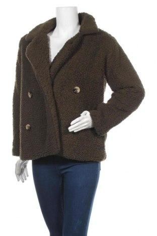 Дамско палто, Размер M, Цвят Зелен, 65% памук, 35% полиестер, Цена 46,20лв.