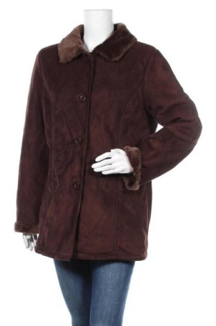 Дамско палто Authentic Clothing Company, Размер L, Цвят Кафяв, Полиестер, Цена 28,35лв.