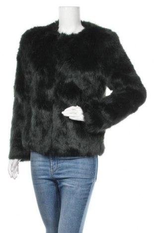 Дамско палто Bershka, Размер S, Цвят Зелен, Цена 45,68лв.
