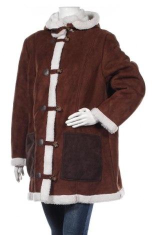 Дамско палто Bon Prix, Размер XXL, Цвят Кафяв, Полиестер, Цена 27,41лв.