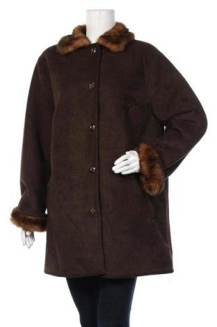 Дамско палто Creation Atelier, Размер XL, Цвят Кафяв, Цена 27,83лв.