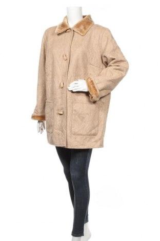 Дамско палто Creation L, Размер XL, Цвят Бежов, 75% акрил, 25% полиестер, Цена 23,15лв.