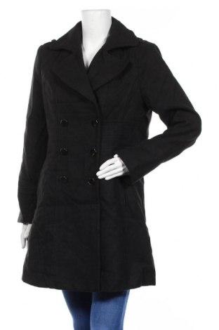 Дамско палто Crossroads, Размер L, Цвят Черен, 88% полиестер, 10% вискоза, 2% еластан, Цена 29,77лв.