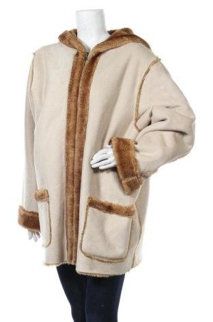 Дамско палто Denim Co, Размер XXL, Цвят Бежов, 85% полиестер, 15% полиакрил, Цена 46,31лв.