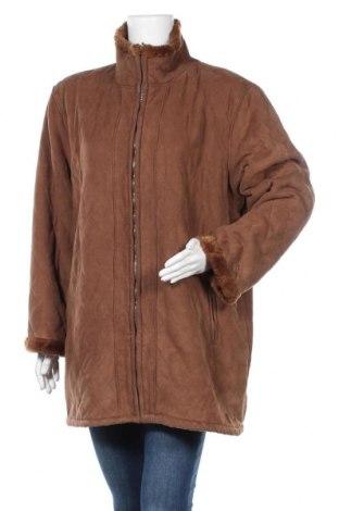 Дамско палто Encadee, Размер XL, Цвят Кафяв, Полиестер, Цена 14,70лв.