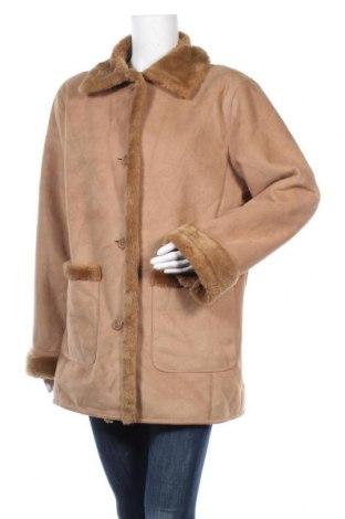 Дамско палто Fabiani, Размер L, Цвят Кафяв, 3% акрил, 37% полиестер, Цена 24,10лв.