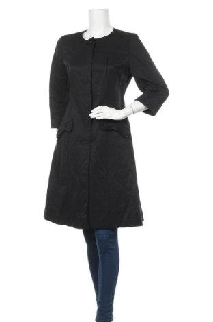Дамско палто Hallhuber, Размер M, Цвят Черен, 68% памук, 32% полиестер, Цена 74,03лв.