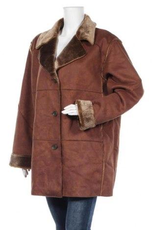 Дамско палто Hucke, Размер XL, Цвят Кафяв, 60% акрил, 40% полиестер, Цена 58,59лв.