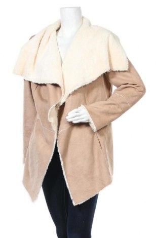 Дамско палто Laura Torelli, Размер L, Цвят Бежов, Полиестер, Цена 32,76лв.