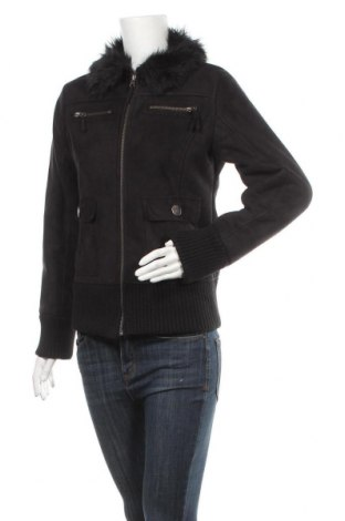 Дамско палто Mango, Размер L, Цвят Черен, 100% акрил, Цена 32,34лв.