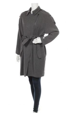 Дамско палто Mango, Размер M, Цвят Сив, 63% полиестер, 32% вискоза, 5% еластан, Цена 51,62лв.