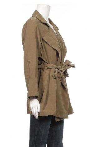 Дамско палто Mango, Размер S, Цвят Зелен, 93% вискоза, 7% полиестер, Цена 42,56лв.
