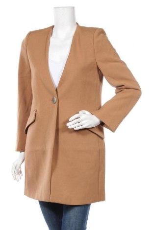 Дамско палто Mango, Размер S, Цвят Кафяв, 68% полиестер, 28% вискоза, 4% еластан, Цена 111,75лв.