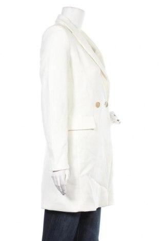 Дамско палто Mango, Размер S, Цвят Бял, 68% полиестер, 28% вискоза, 4% еластан, Цена 53,96лв.