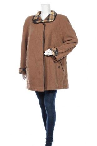 Дамско палто Miss Helen, Размер XXL, Цвят Кафяв, 70% вълна, 30% полиамид, Цена 49,09лв.