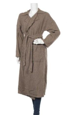 Дамско палто Miss Look, Размер M, Цвят Бежов, Памук, полиестер, Цена 41,58лв.