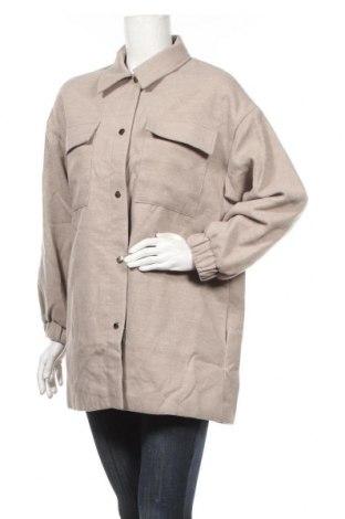 Дамско палто Missguided, Размер M, Цвят Бежов, Полиестер, Цена 69,00лв.