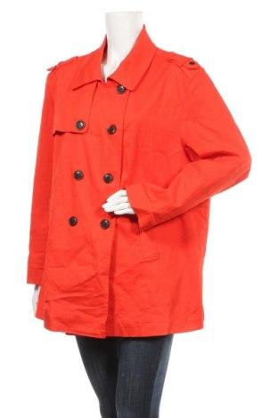 Дамско палто My Size, Размер L, Цвят Червен, Памук, еластан, Цена 11,03лв.