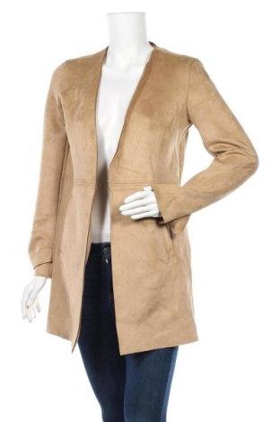 Дамско палто Orsay, Размер XS, Цвят Бежов, 95% полиестер, 5% еластан, Цена 36,91лв.