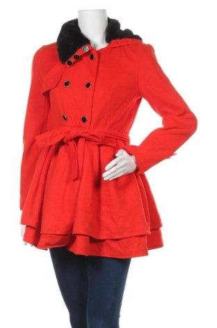 Дамско палто Owind, Размер M, Цвят Оранжев, 65% полиестер, 35% памук, Цена 17,06лв.