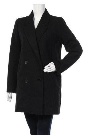 Γυναικείο παλτό Pimkie, Μέγεθος L, Χρώμα Μαύρο, 65% πολυεστέρας, 25% μαλλί, 10% άλλα υλικά, Τιμή 36,37€